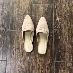 Geraldine Suede Loafer Slides